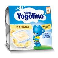 Gustare cu lapte Nestle Yogolino Banane 4x100g, 6 luni+