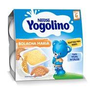 Gustare Nestle Yogolino Gris cu Lapte si biscuiti 4x100g, 6 luni+