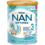 Lapte pentru copii de varsta mica Nestlé NAN OPTIPRO 3 HM-O, intre 1-2 ani, 400g