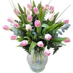 Buchet 23 lalele roz