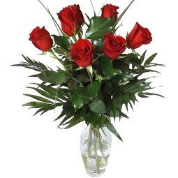 7 trandafiri rosii