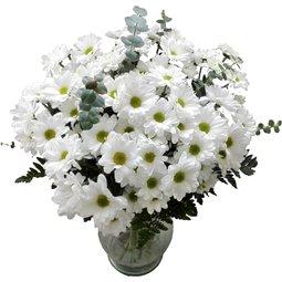 Buchet de crizanteme albe