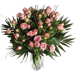 Buchet de minirosa roz