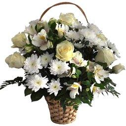 Cos de flori albe