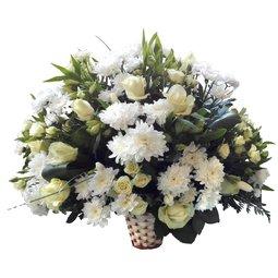 Cos de flori albe Deluxe