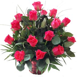 Cos de trandafiri roz (23)