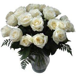 Buchet de 23 trandafiri albi