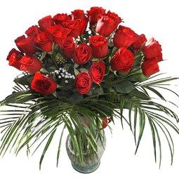 45 trandafiri rosii
