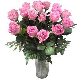 17 trandafiri roz