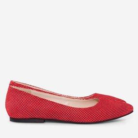 Balerini rosii din piele naturala Effie