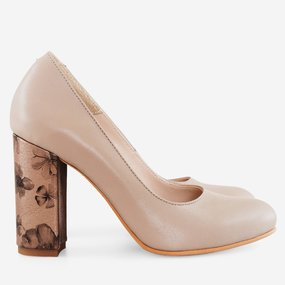 Pantofi cu toc gros Fabiola