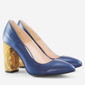 Pantofi cu toc gros Lia