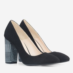 Pantofi dama cu toc din piele naturala Barbara