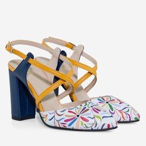 Pantofi dama cu toc din piele naturala Melbourne