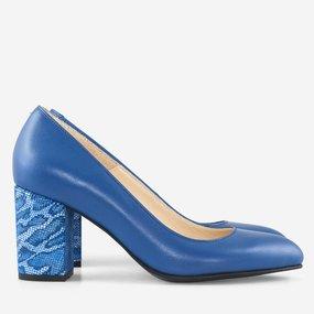 Pantofi dama din piele naturala albastra Nissa