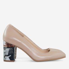 Pantofi dama din piele naturala camel Delia