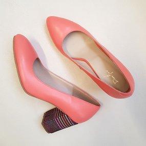 Pantofi dama din piele naturala corai Leanna