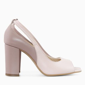 Pantofi dama din piele naturala grej cu somon Lyanna
