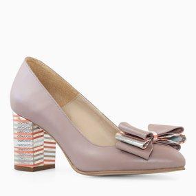 Pantofi dama din piele naturala grej Sandrine