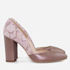 Pantofi dama din piele naturala grej Venice