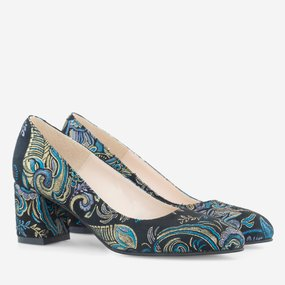 Pantofi dama din piele naturala imprimata Zephyr