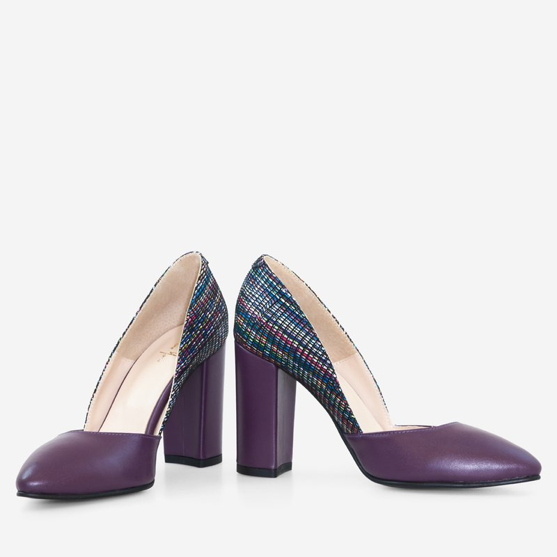 adidași ieftin ofera reduceri magazin online Pantofi dama din piele naturala mov Pepper