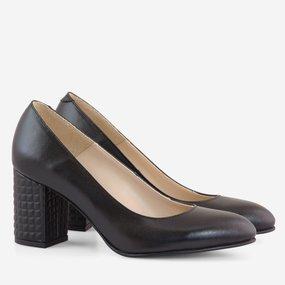 Pantofi dama din piele naturala neagra Franca