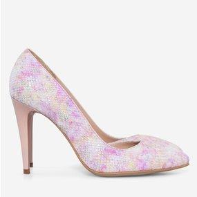 Pantofi decupati din piele naturala imprimata Jill