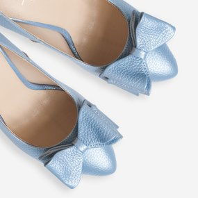 Pantofi din piele naturala bleu sidef Simone