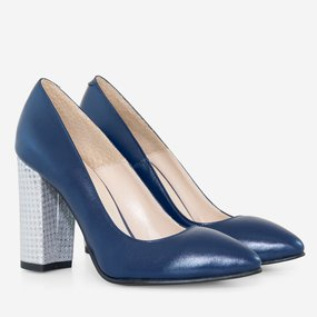 Pantofi din piele naturala bleumarin Envy