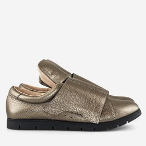 Pantofi din piele naturala bronz Magnolia