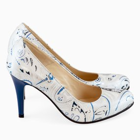 Pantofi din piele naturala Fatima