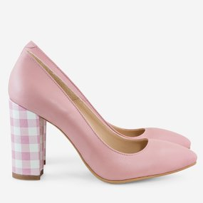 Pantofi din piele naturala roz Baltimore