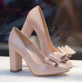 Pantofi din piele naturala roz sidef Betsy