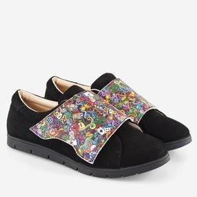 Pantofi negri din piele naturala Pixie