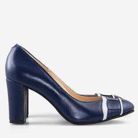 Pantofi office din piele naturala bleumarin Coraline