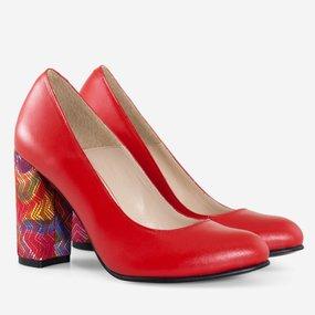 Pantofi rosii din piele naturala Rosita