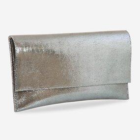 Plic de ocazie din piele naturala argintie Bright