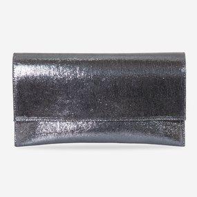 Plic de ocazie din piele naturala argintie Carina