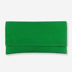 Plic din piele intoarsa verde Veruschka
