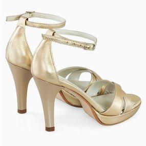 Sandale aurii cu platou Gilda