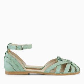 Sandale cu talpa joasa din piele naturala vernil Jolie