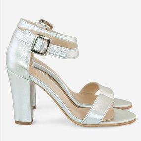 Sandale cu toc din piele naturala Eleven