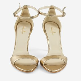 Sandale din piele naturala aurie Golden
