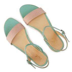 Sandale din piele naturala bleu Baylee