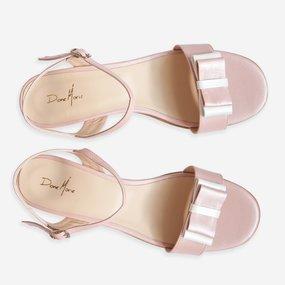 Sandale din piele naturala roz Gigi