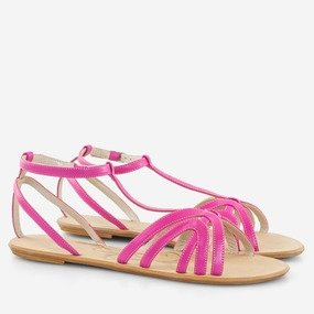 Sandale dama fuchsia din piele naturala Fiesta
