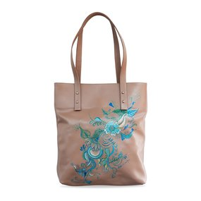 Tote pictat manual PRIYA - FLOR