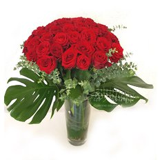 Four Dozen Red Roses | Sending Flowers to Milan | Best Local Florist