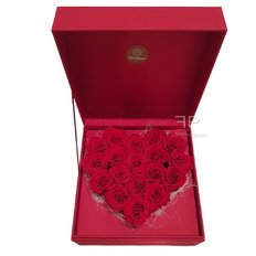 Preserved Red Roses Heart Box | Love Gift Milan | Send Flower Italy